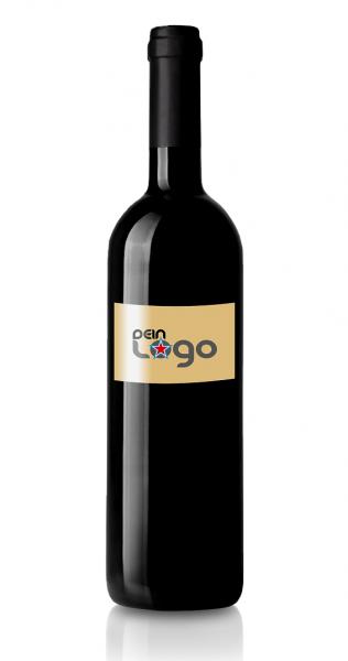 Veredelter Wein Etikett Logo individuell