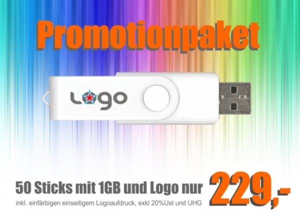 Einsteigerpaket USB Sticks bedruckt