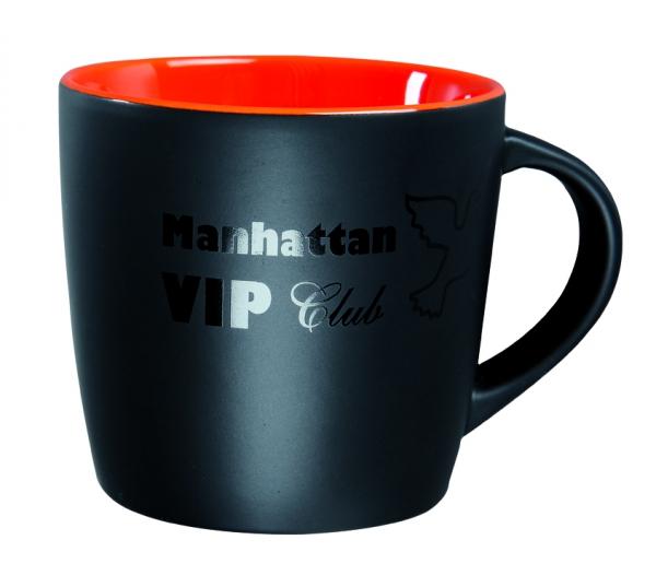Tasse Schwarz innen Farbe