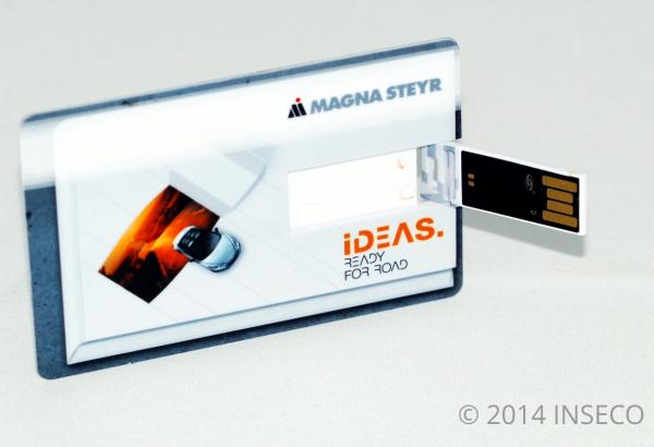 Plastikkarte USB Stick bedruckt